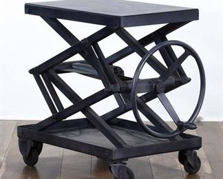 Industrial Steampunk Accordion Lift End Table