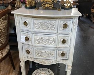 19th century painted commode.