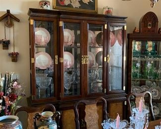 Another view of Asian inspired china cabinet