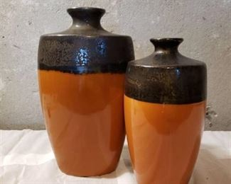 Set of 2 Kohls Stoneware Vases