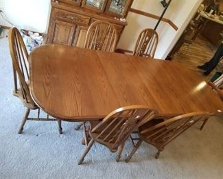 AMERICA Dining Room Table with 6 Chairs and Leaf