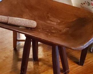 Antiques Dough bowl table