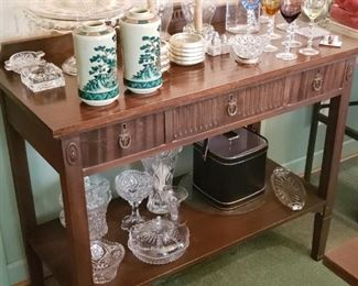 Vintage Server and glassware