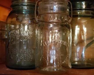 Vintage Mason jars