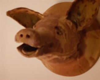 Pottery Wall Pig