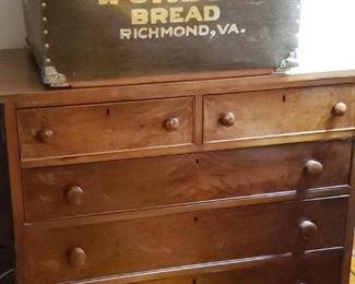 Antique Chest. Wonder Bread box from Richmond, VA.