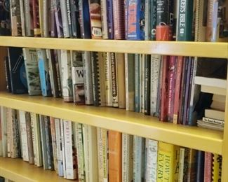 Cookbooks, one of 4 bookcases full