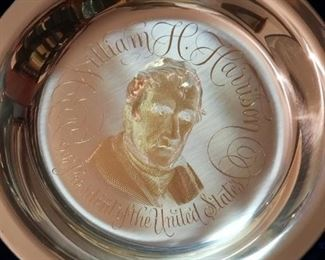 Sterling Silver Presidents Collector Plates