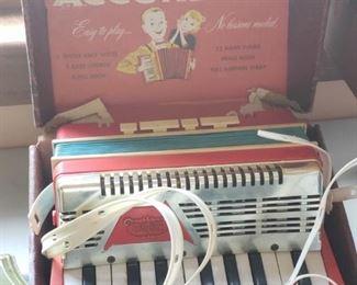 Vintage child's accordion