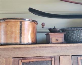 Wood Buckets, coffee grinder