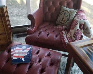 Vinyl Chair and ottoman