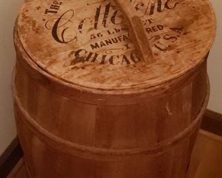 Antique Shortening Shipping Barrel
