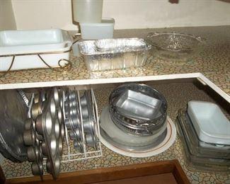 Baking pans.