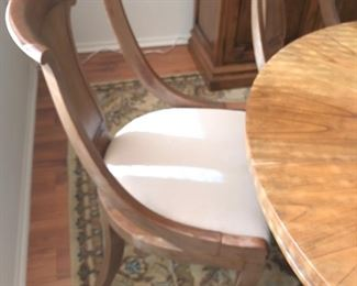 4 Baker Chairs and Table
