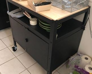 Rolling kitchen Cart $100