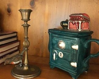 teapots  and candlesticks $20 each