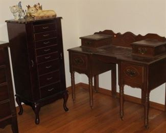 ANTIQUE VANITY - JEWELRY CABINET