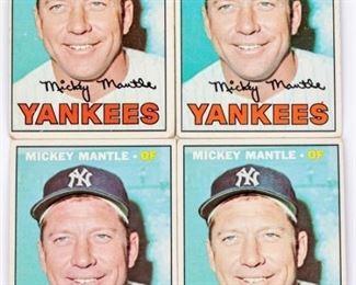 Lot 13 - Mickey Mantle 1967 Baseball Card (4)
