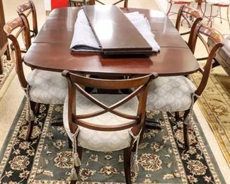 Lot 352 - Furniture Duncan Phyfe Style Table & 6 Chairs