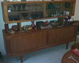 Fabulous Mid-Century Modern Mobler Teak Credenza with Hutch