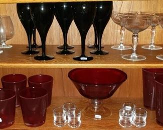 Crystal Stemware, Ruby Red Glasses and more