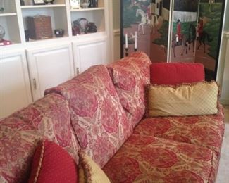 The other matching sofa; equestrian theme room divider