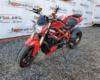 2014 Ducati Streetfighter 848 Year: 2014 Make: Ducati Model: Streetfighter 848 Vehicle Type: Motorcycle Mileage: 5337 Plate: {ENTER PLATE NUMBER HERE} Body Type: Trim Level: Drive Line: Engine Type: Fuel Type: Horsepower: Transmission: VIN #: ZDM11BMV0EB017397  DMV fees: $493 and $70 doc fees