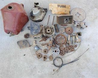 Husqvarna Dirtbike Parts Plastic Tank, Tire tube, engine head, pistons, sprockets and more