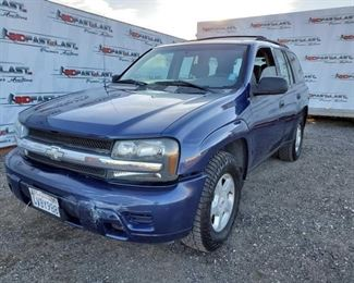 2002 Chevrolet TrailBlazer Runs good and new Falken Tires. Pending Code P014, Possible O2 Sensors need replacement. Year: 2002 Make: Chevrolet Model: TrailBlazer Vehicle Type: Multipurpose Vehicle (MPV) Mileage: 179,139 Plate: {ENTER PLATE NUMBER HERE} Body Type: 4 Door Wagon Trim Level: LS; LT; LTZ Drive Line: RWD Engine Type: L6, 4.2L; DOHC Fuel Type: Gasoline Horsepower: 270HP Transmission: VIN #: 1GNDS13S722296423