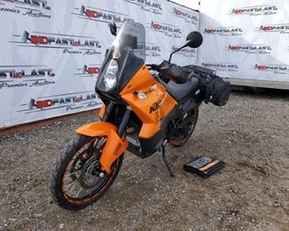 2010 KTM Adventure 990 Fresh Service, Extra set of Tubes, ABS Brakes, Cortec Rack/Bags, FMF Pipes, Rocky Mountain Skid Plate, Heated Grips, Garmin GPS-Mounted. 3 Keys Included Year: 2010 Make: KTM Model: Adventure 990 Vehicle Type: Motorcycle Mileage: 10,998 Plate: 20V6255 Body Type: Trim Level: Drive Line: Engine Type: Fuel Type: Horsepower: Transmission: VIN #: VBKVA7409AM966572
