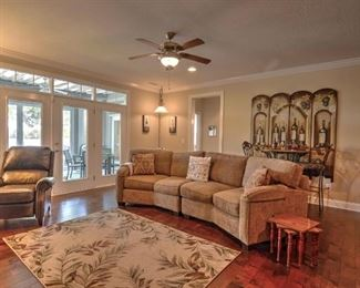 family room leather chair not included in sale