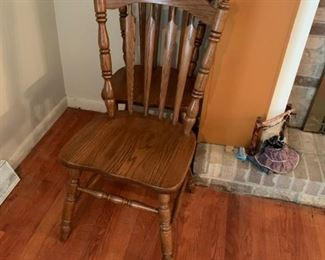 #3		 (4) Oak Dining Chairs   $120.00