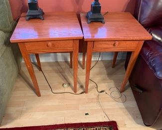 #16		(2) Solid Wood Oak End Tables  20x20x29    $75 each