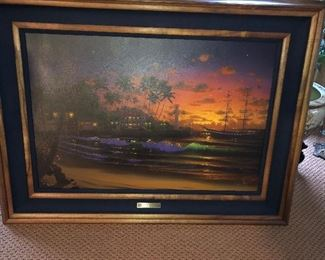 Al Hogue,  Lahaina Twilight,  Framed Painting