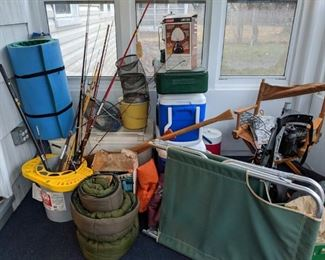 Miscellaneous camping and fishing equipment