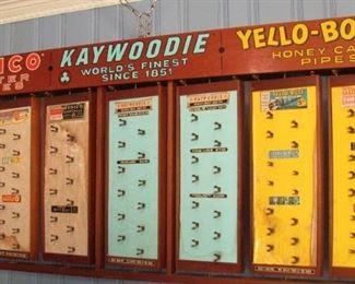 "Lot 101 - Kaywoodie, Yello Bole, Medico 72"" x 32"" Drugstore Revolving Display Outstanding Advertising Piece"