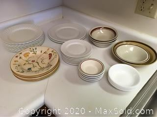 Assortment Of Everyday Plates And Bowls