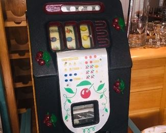 totally refurbished  Mills  nickel slot machine