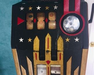 completely refurbished 1940's  Comet  nickel slot machine