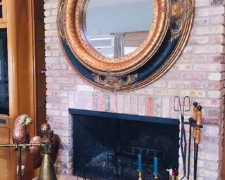 gorgeous very large mirror over fireplace