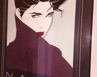 one of three large signed and framed Nagel prints