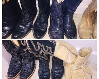 lady's and men's cowboy boots