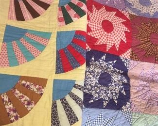 two very nice handmade quilts