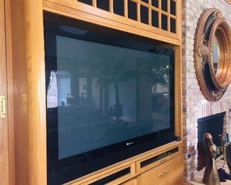 huge Panasonic flat screen TV