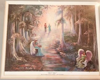 Signed Linda Schafer framed print