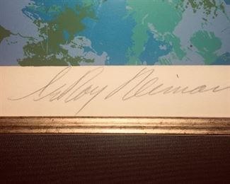 signature of Leroy Neiman artist proof