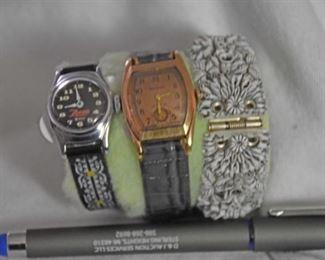Zorro WDP 1950s Watch, Vintage Bolova 10 KGF Watch, Bracelet