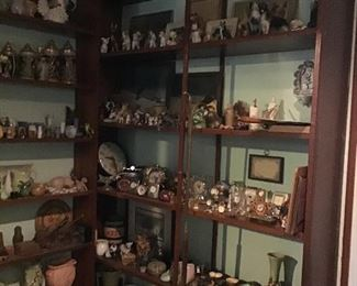 Antiques and Collectibles,and  some collections.  not yet sorted will be moved around the house