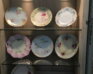 Collection of vintage & Antique rose plates
