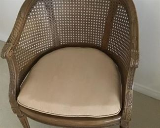 Occassional chair/cane back